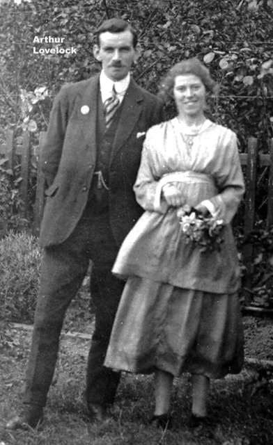 Arthur Lovelock with Bride